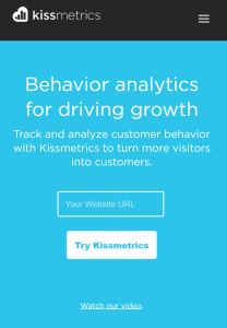 mobile-first voorbeeld: KissMetrics