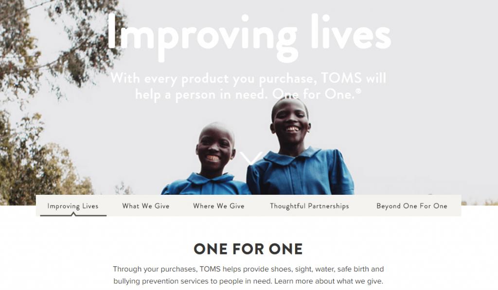 Schoenenmerk Toms heeft een baanbrekende propositie met: One for One