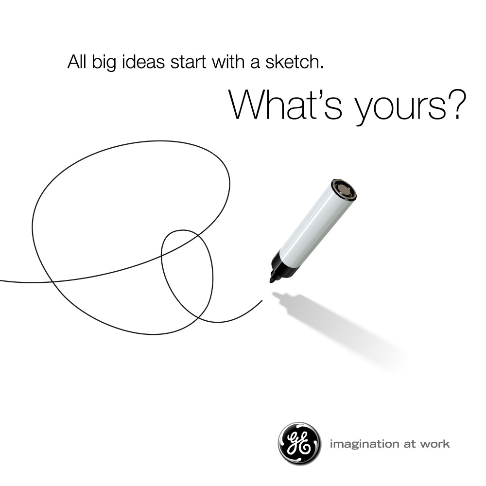pen sketch campagne magician merk archetype voorbeeld general electric