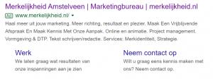 search engine advertising voorbeeld