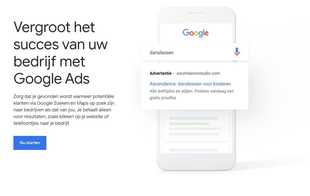 Starten met Google Ads