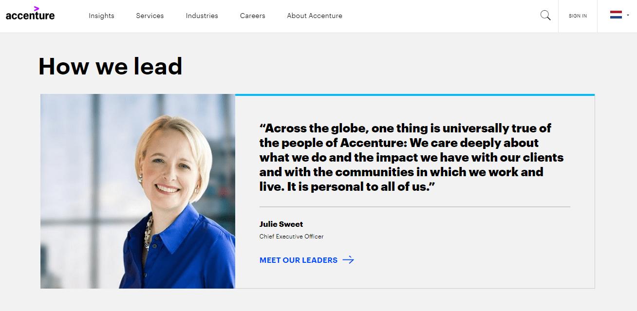 Merk archetype hero Accenture