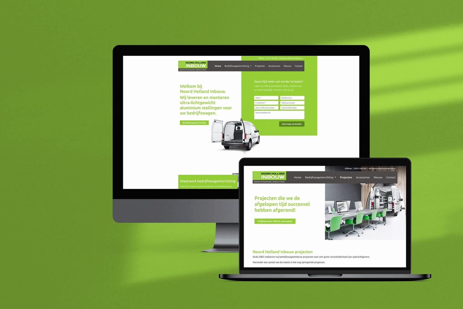 Custom WordPress website Noord Holland Inbouw
