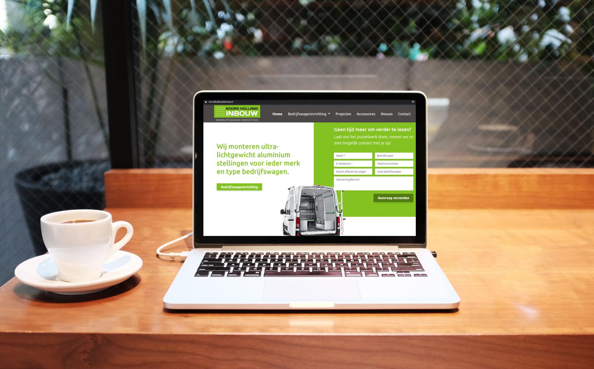 Mockup van website gebouwd door Merkelijkheid voor online leadgeneratie