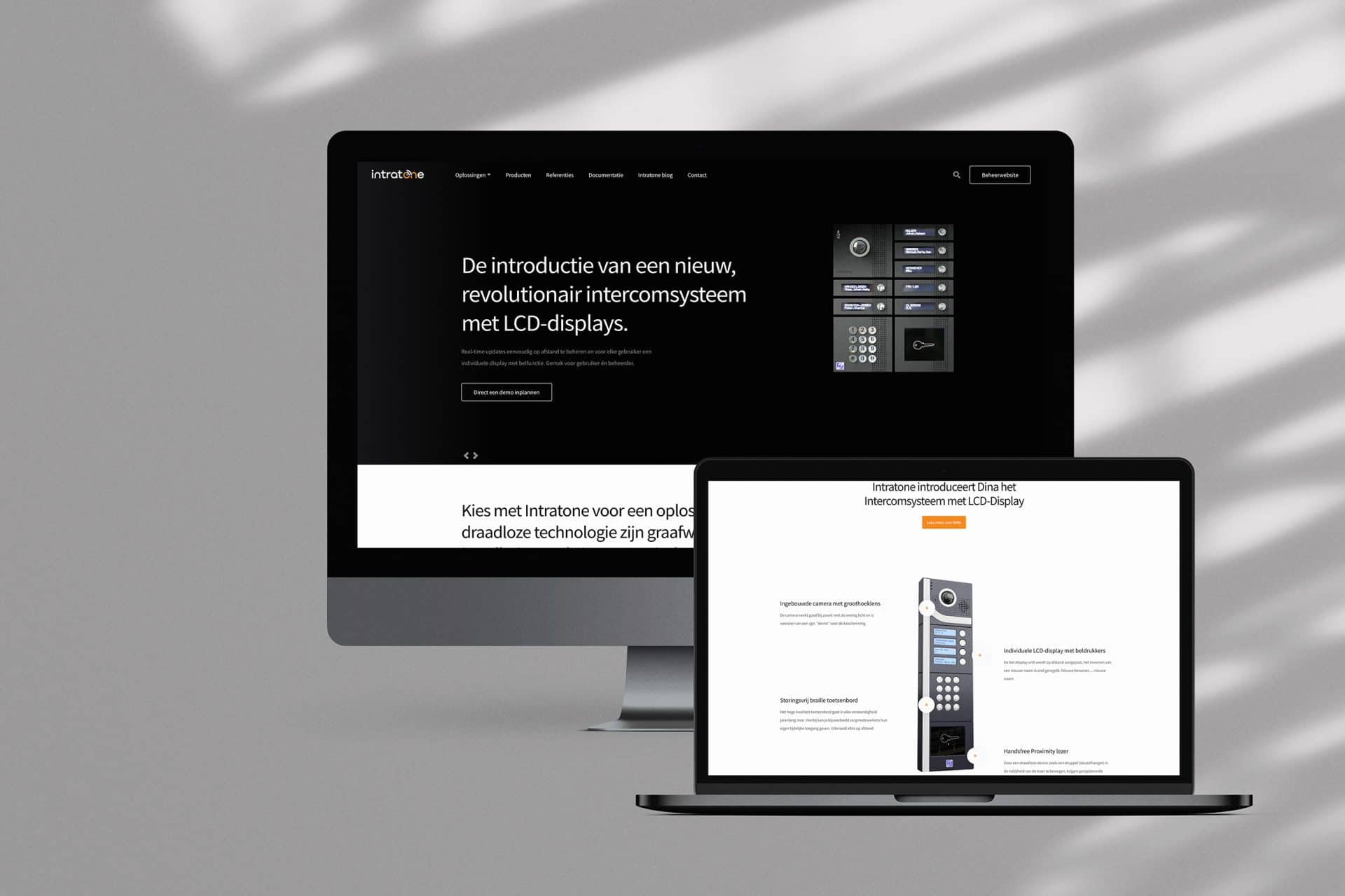 custom WordPress website van Intratone
