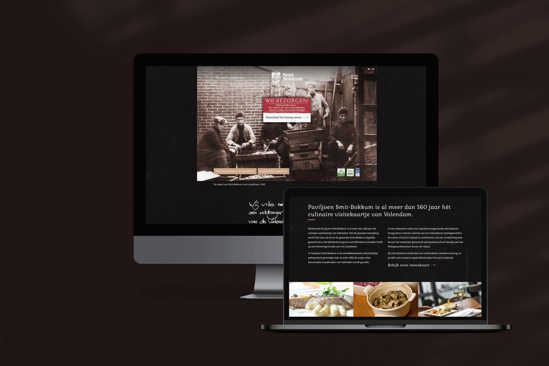 De custom WordPress website van restaurant Smit Bokkum